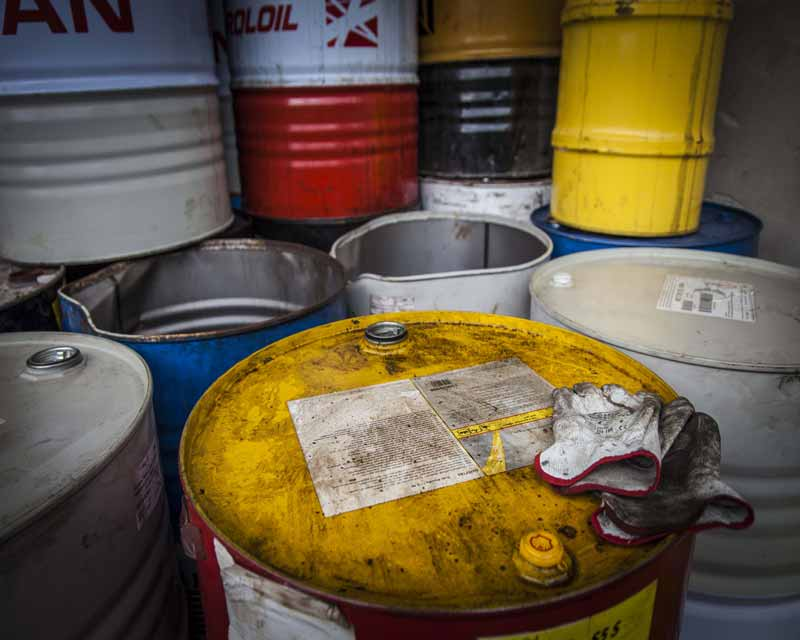 Smaltimento fusti olio esausto Roma